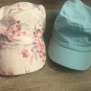 O'Neill and Billbong hat floral and blue